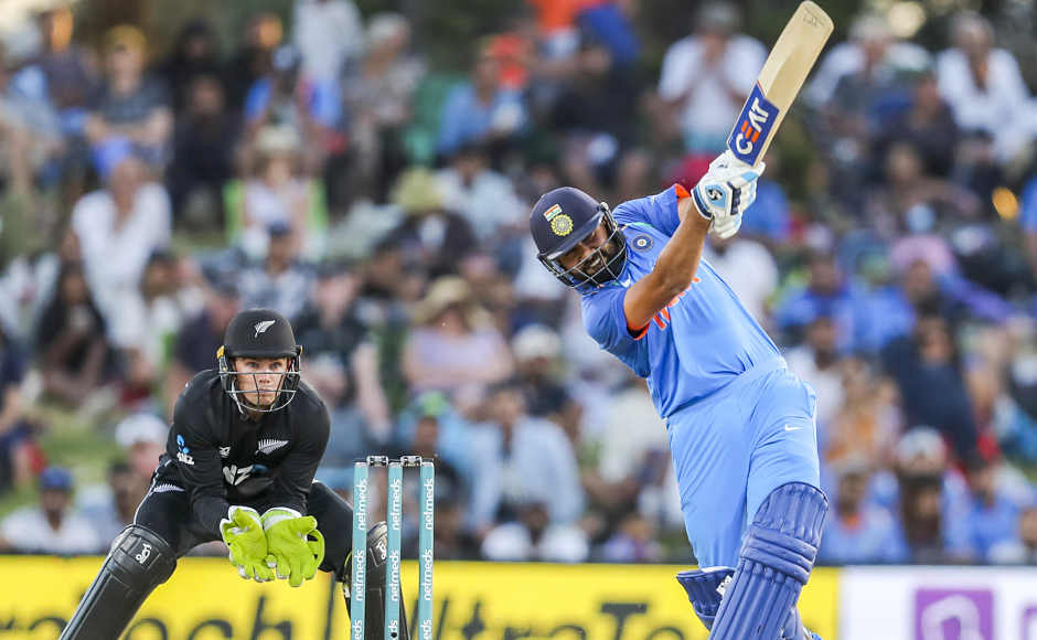 Chasing 244 to win, Indian openers put on 39 for the first wicket before Shikhar Dhawan departed for 28 made off 27 balls. Rohit Sharma carried on and smashed 62 off 77 balls. He formed a 113-run stand with Virat Kohli to take India to a solid position in the chase. AP