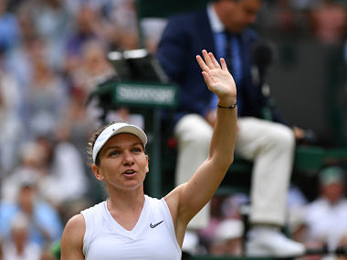 Wimbledon 2019: Simona Halep overcomes early onslaught to beat Zhang Shuai in straight sets and enter semi-finals