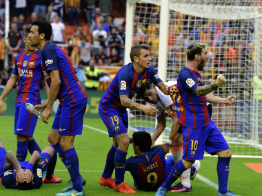 La Liga: Barcelona criticised, Valencia fined by Spanish football federation after violent crowd reaction