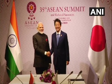 Narendra Modi meets Shinzo Abe on sidelines of 35th ASEAN Summit in Bangkok for delegation-level meeting