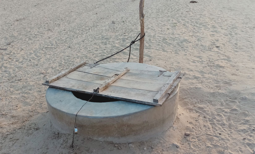 A locked well in Barmer is a testimony to the serious water crisis in the situation. Mukesh Mathrani/101Reporters