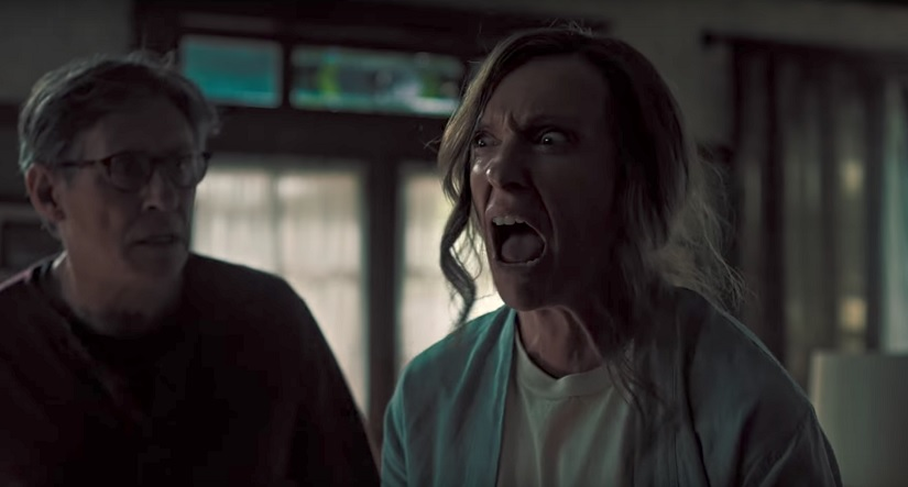 Toni Collette in a still from the trailer for Hereditary. YouTube