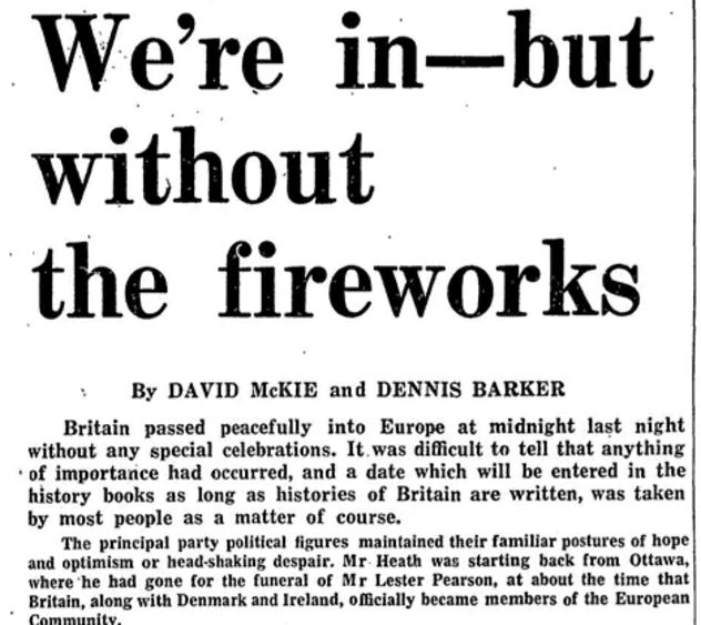 Brexit in 2016 and 1975: Two historical EU referendums speak of two different ideas of Britain