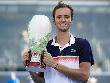 Cincinnati Masters: Third times a charm for Daniil Medvedev as he beats David Goffin in straight sets to clinch trophy