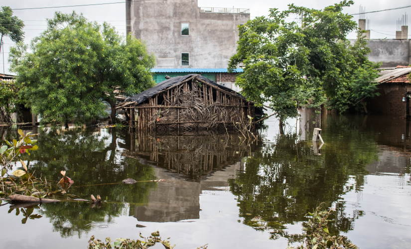 Most of the houses in the Shirati village of Shirol taluka had drowned in water