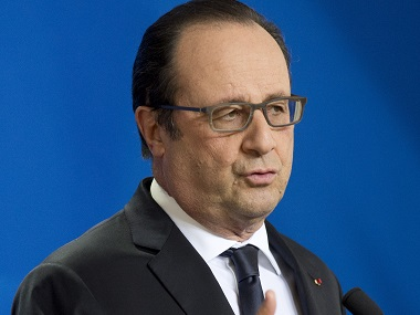 French president Francois Hollande urges Europe to give firm response to Donald Trump