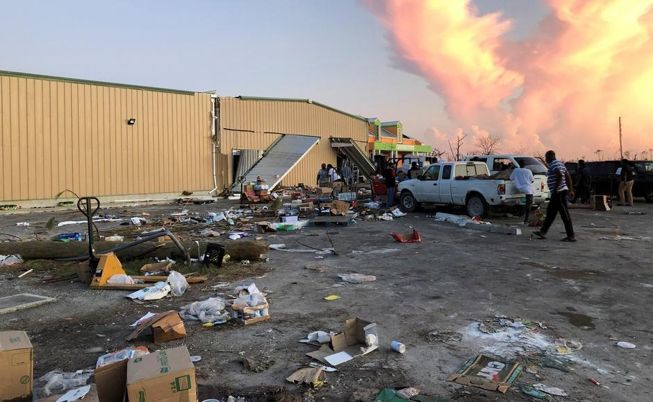 Dorian's winds weakened after sunset Thursday to 161 kmph, before falling further early Friday to 90 mph (145 kmph), making it a Category 1 storm.A view of a looted supermarket after Hurricane Dorian hit the Abaco Islands in Marsh Harbour, Bahamas. Reuters