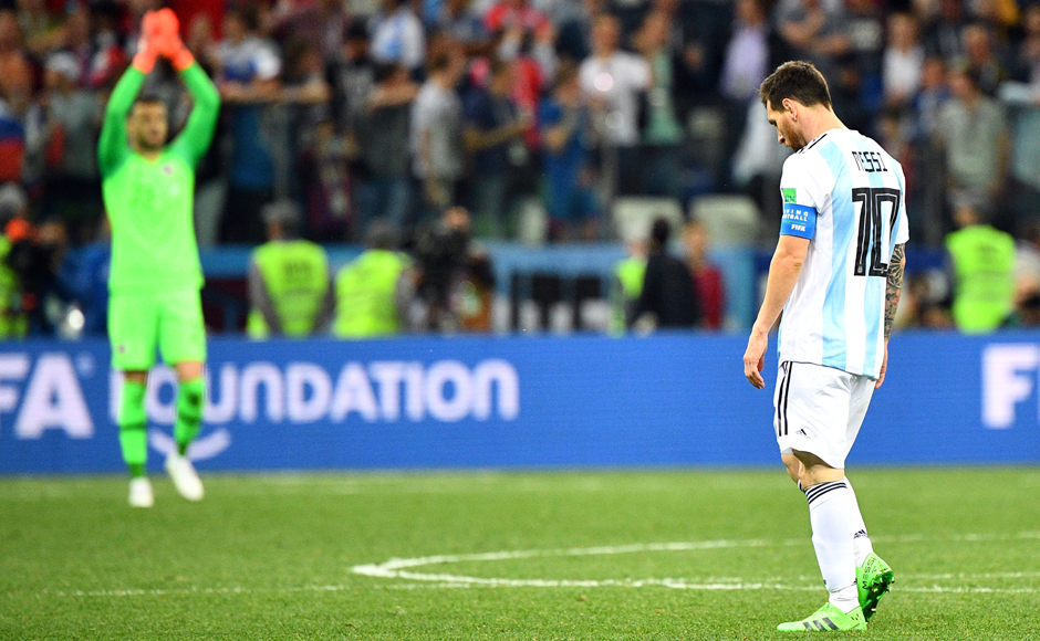 Lionel Messi's Argentina find themselves in a precarious position with only one point in two matches, after being held to a draw against Iceland in their opening fixture. AFP