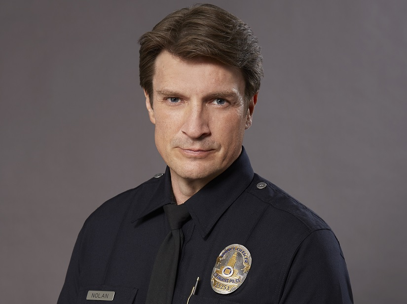 Castle star Nathan Fillion plays a 40-year-old Rookie police officer in new crime-comedy drama