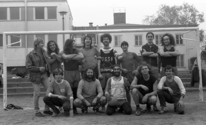 Members of the Die Schärfsten ― including Chris Lopatta (standing, extreme right) and Blauschmidt Daniel (sitting, centre), who wrote Boone's Laws ― pose for a picture clicked in 1987. Image courtesy: Chris Lopatta