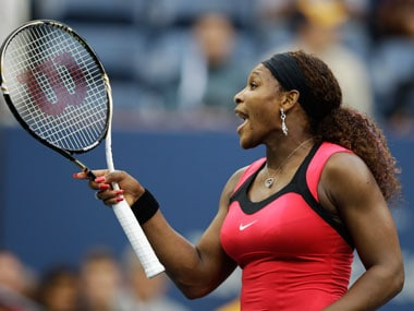 Serena arguing with a chair umpire in the US Open finals. AP