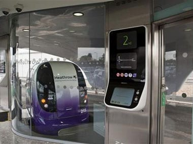 The future is here, super fast laser-guided pods available at Heathrow