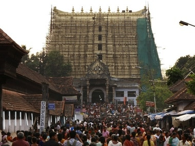 Devotees throng to Sree Padmanabhaswamy temple. Reuters