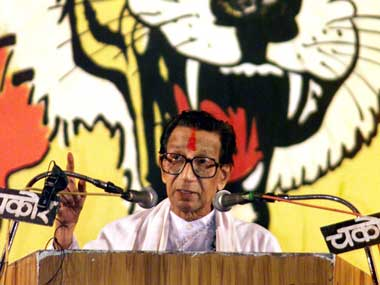 Shiv Sena chief Bal Thackeray had supported the Congress when it suited his needs. Reuters