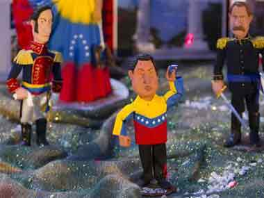 Venezuelan nativity features Chavez with baby Jesus