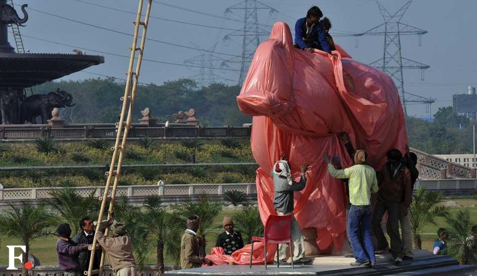 The jumbo cover-up began today. Naresh Sharma/ Firstpost