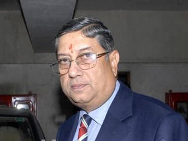 N Srinivasan has come up with a strange excuse. Reuters