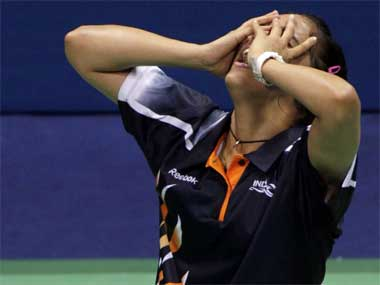 Saina loses semis to Chinas Wang in Malaysia Open Super Series