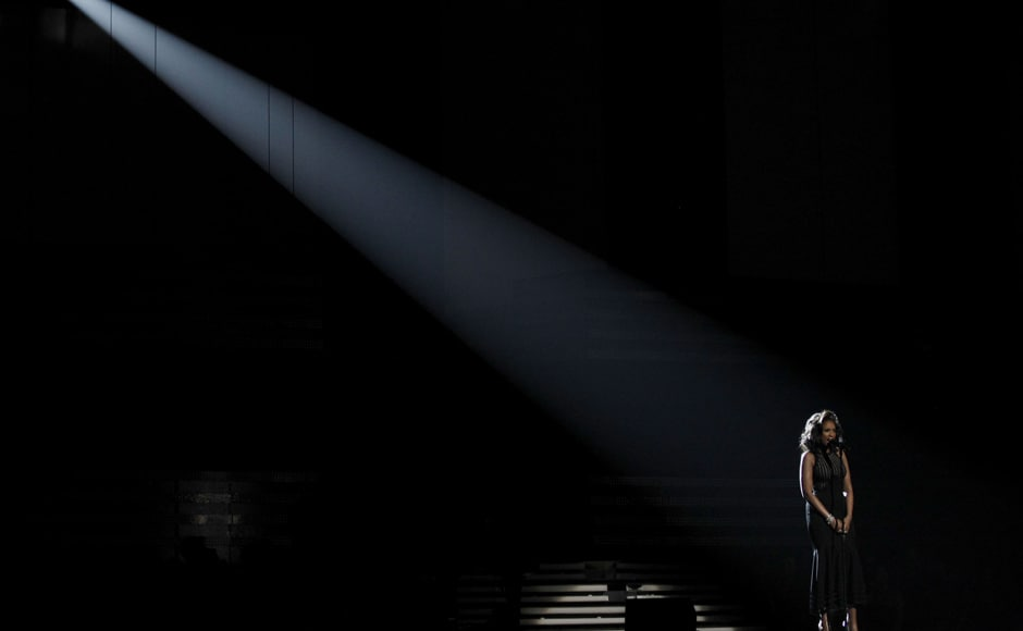 Images: Stars pay tribute to Whitney Houston at Grammys