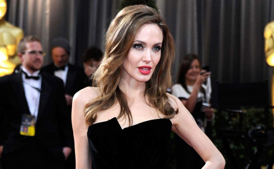 Angelina Jolie arrives at the 84th Annual Academy Awards held at the Hollywood & Highland Center. Getty Images.