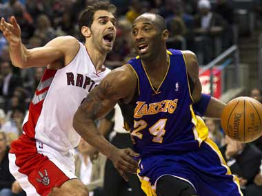 Bryant hits game-winner, Lakers edge Raptors 94-92