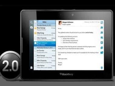 Blackberry Playbook 2.0 too late to save RIM?