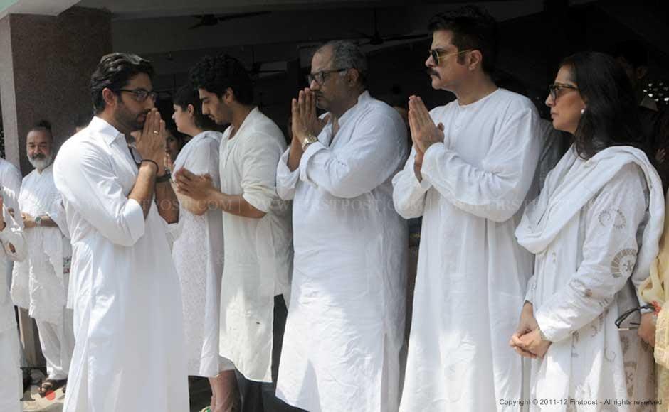 Abhishek Bachchan, Anshula, Arjun, Boney, Anil and Sunita Kapoor. Raju Shelar/Firstpost