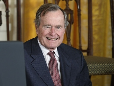 Former US President George HW Bush moved out of intensive care, making progress