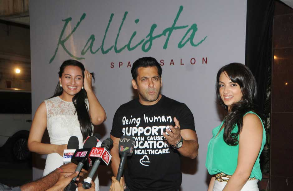 Sonakshi Sinha, Salman Khan and Seema Khan. Raju Shelar/ Firstpost