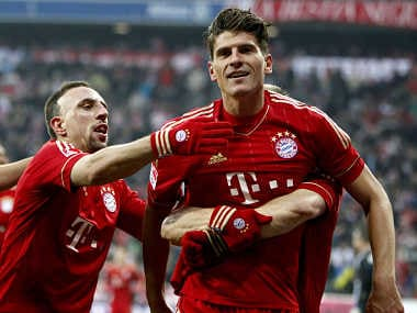 If Barcelona have Messi, then Bayern have Gomez