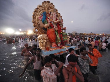 Drums, dancing, damsels and divine farewells: sights and sounds of Ganesh visarjan