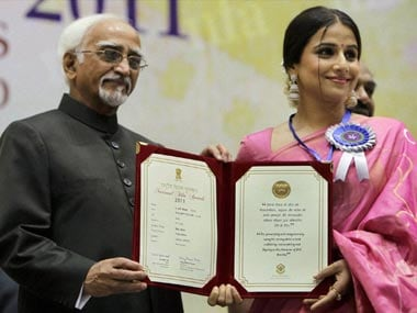 Vidya Balan receives National Award for The Dirty Picture