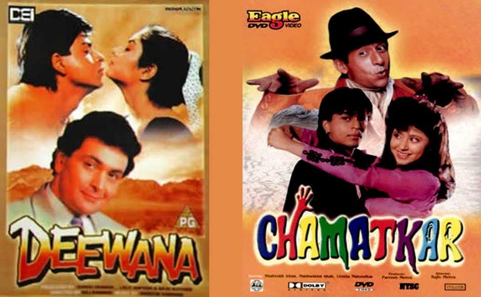 In 1992 Shah Rukh Khan made his debut with the film Deewana. He also acted in Chamatkar, co-staring Naseerudin Shah. Wikipedia