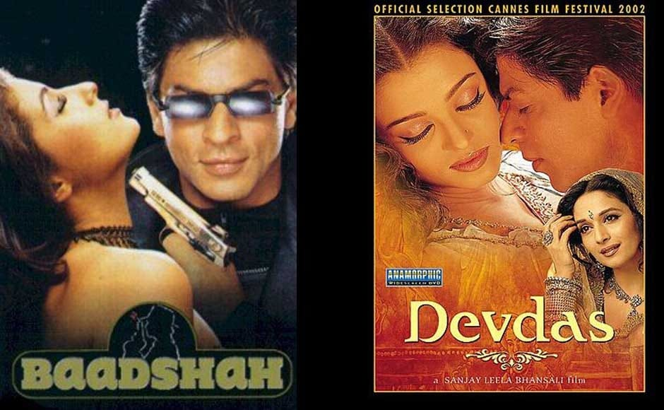 SRK played a private detective in Baadshah. In 2002 he acted in Sanjay Leela Bhansali's Devdas, which was a huge commercial success and was also recently included in Time magazine's top 10 movies of the millennium worldwide. Wikipedia