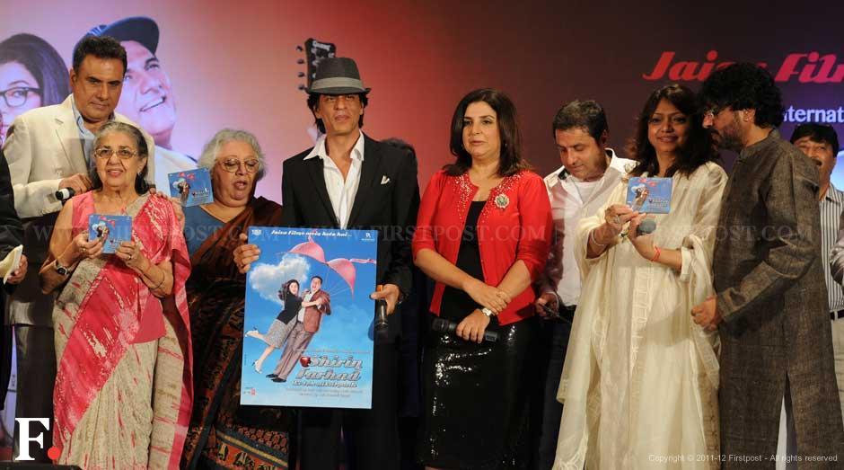 (from left to right) Boman Irani, Daisy and Honey Irani, Shah Rukh Khan, Farah Khan, Sunil Lulla, Bela Sehgal and Sanjay Leela Bhansali. Sachin Gokhale/Firstpost.