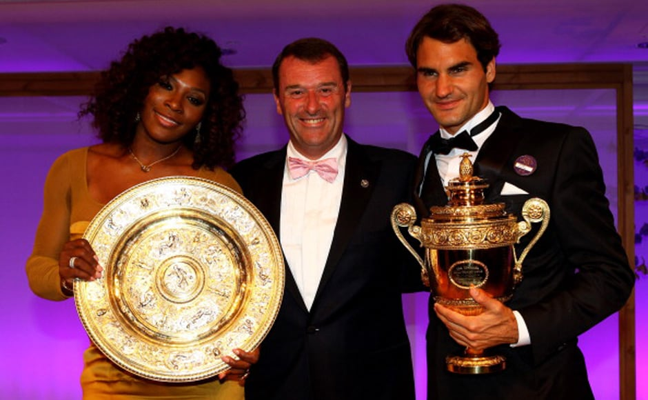 Images: Roger Federer and Serena Williams at the Wimbledon Winners Ball