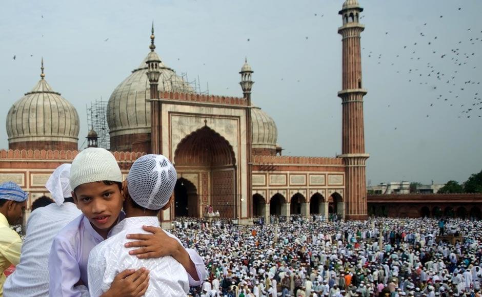 Images: Celebrating Eid at Delhi's Jama Masjid