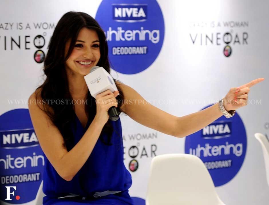 Anushka Sharma flashes her million dollar smile at a Nivea event. Sachin Gokhale/Firstpost