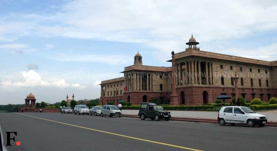 A spruced up South Block on Rajpath ahead of Independence Day. Naresh Sharma/ Firstpost