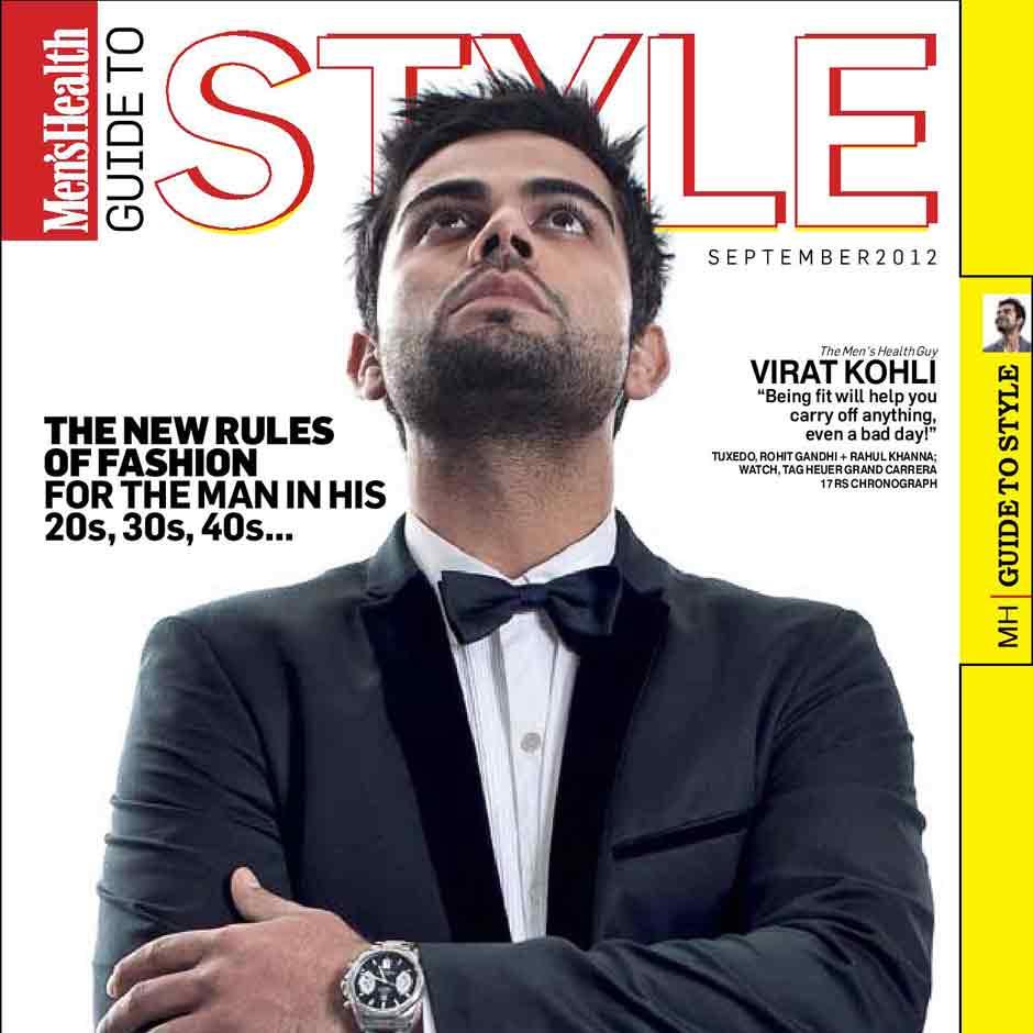 Virat Kohli on the September cover of Men's Health Magazine. Courtesy: Men's Health Magazine