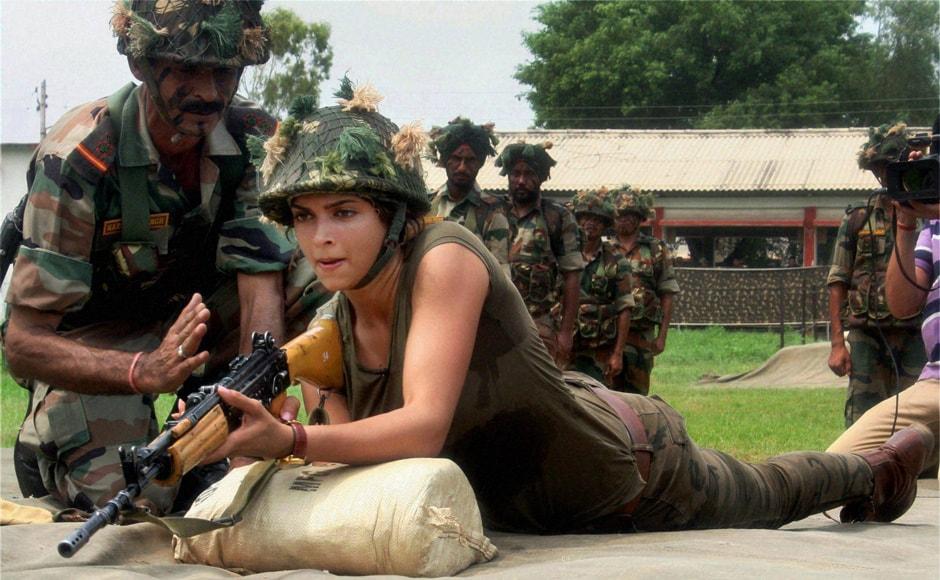 images  deepika padukone  badass army babe