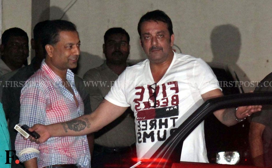 Sanjay Dutt celebrates Eid at Salman Khan's residence. Sachin Gokhale/Firstpost