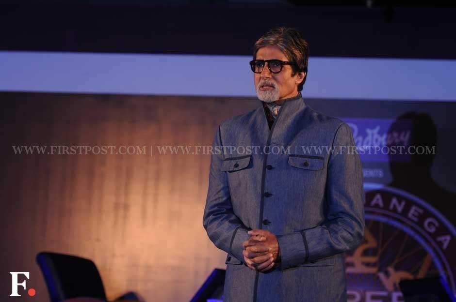 Amitabh Bachchan at the press meet of Kaun Banega Crorepati 6, held at Hotel JW Marriott in Mumbai. Sachin Gokhale/Firstpost