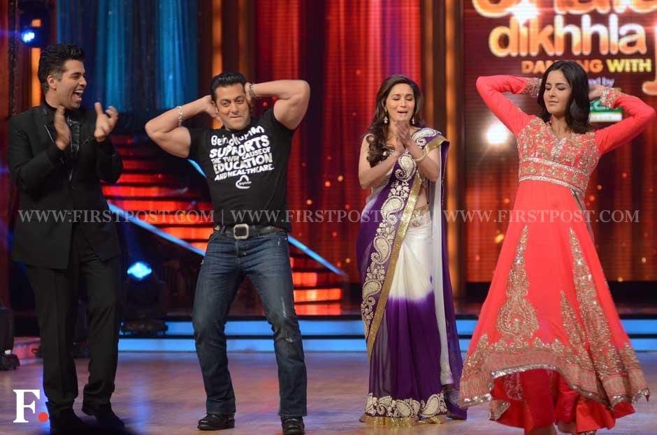 Karan Johar, Salman Khan, Madhuri Dixit and Katrina Kaif. Sachin Gokhale/Firstpost