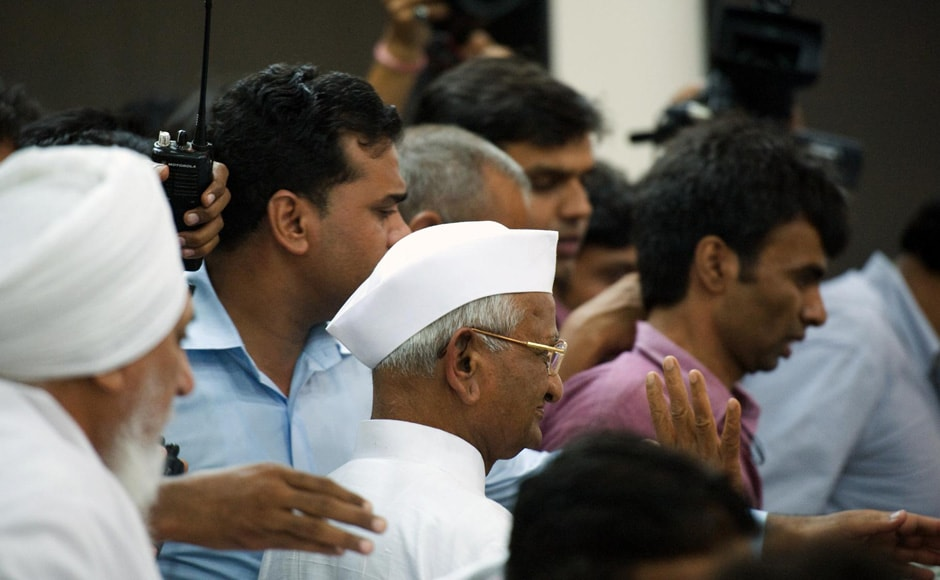 On Wednesday, Hazare will meet Kejriwal and aides who are for political party. Naresh Sharma/Firstpost