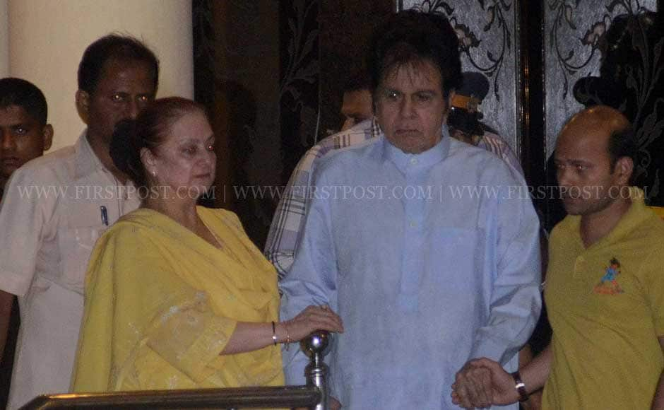 Saira Banu and Dilip Kumar at Lilavati Hospital. Firstpost