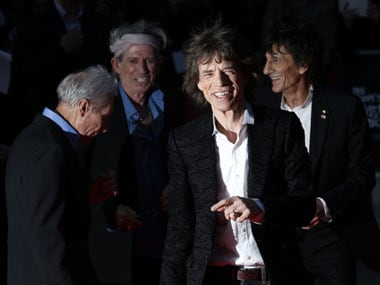 The Rolling Stones arrive for the world premiere of