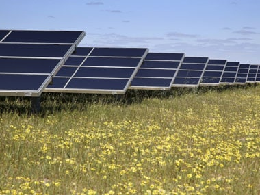 Scientists use solar enegery to create electricity, fuels
