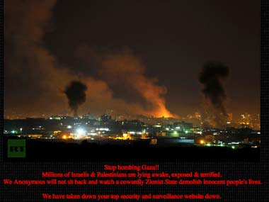 Anonymous enters Israel-Hamas cyber war, takes down 40 Israeli sites