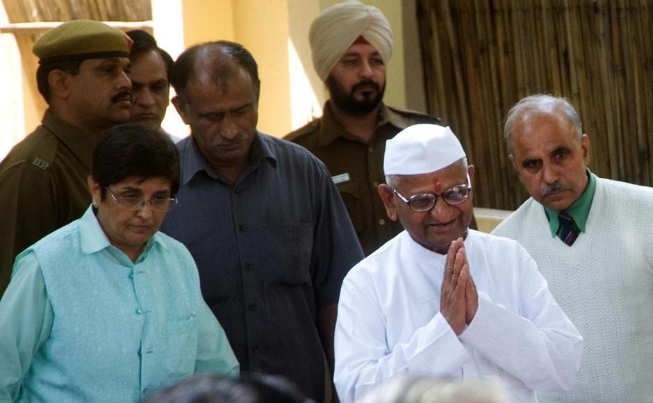 Anna Hazare on Sunday inaugurated his new office at Sarvodaya Enclave in south Delhi. Naresh Sharma/Firstpost